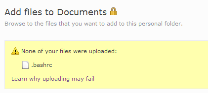 None of your files were uploaded?